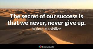 wilma mankiller the secret of our success is that we