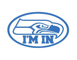 Seahawks I M In Vinyl Window Decal Ice Blue 4 X 7 Seahawks Football 12th Man For Sale Online Ebay