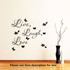 Live Laugh Love Wall Quote Wall Stickers Vinyl Decal Wall Art Home Decoration Ebay