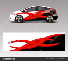 Car Decal Wrap Design Vector Wave Element Graphic Abstract Wave Stock Vector C Oriu007 346861516