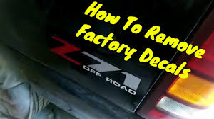 How To Remove Factory Decals Off Your Car Or Truck Do It Yourself Youtube