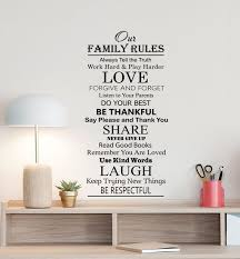 Our Family Rules Wall Decal Love Poster In This Family Sign Etsy