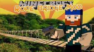 Minecraft Mod Showcase Rope Bridge Mod Youtube