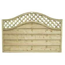 Forest Prague Lattice Curved Top Fence Panels 6 X 4 Pack Of 3 Lattice Fence Panels Screwfix Com