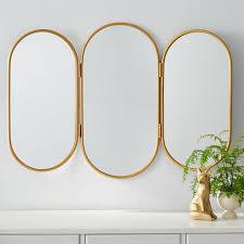 triptych vanity mirror gold diy