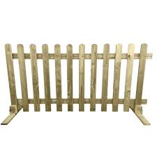 Portable Wooden Picket Fence Panel 6ft Sections 2ft 3ft Etsy