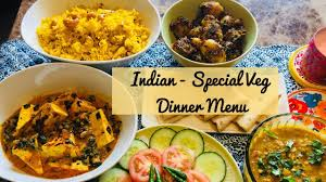 special indian dinner menu for guest