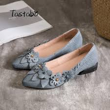 Light Gray Genuine Leather Handmade Decal Casual Shoes For Women S Touchy Style