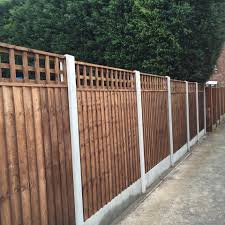 Flat Trellis Top Paving And Fencing By Beechdale Fencing Ltd Of Nottingham