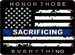 Honor Those Sacrificing Thin Blue Line Flag Decal Policetees Com