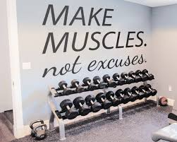 Bodybuilding Gym Decals Wall Decals Exercise Stickers Make Etsy