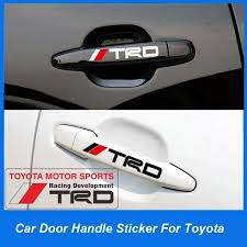 4 X Reflective Trd Logo Car Door Handle Stickers Decals 3d Sticker Buy At A Low Prices On Joom E Commerce Platform