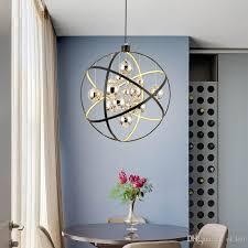 modern black metal led pendant lamp