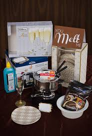basket gifts a fondue dinner would