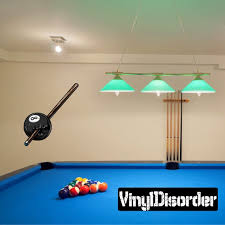 Cracked 8 Ball Billiard Wall Decal Wall Fabric Vinyl Decal Etsy