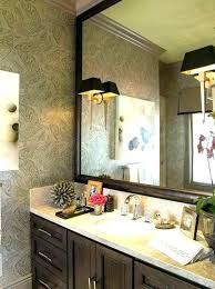 how to frame an oval bathroom mirror