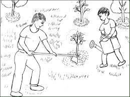 """Bộ tranh tô màu theo hoạt động """"Bé cùng bố trồng cây"""" – Bé tư duy"""