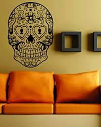 Amazon Com Dabbledown Decals Sugarskull Version 5 Wall Vinyl Decal Sticker Art Graphic Sticker Sugar Skull Automotive