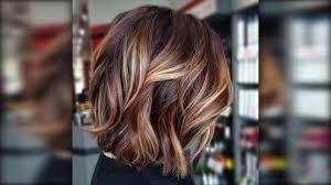 قصات شعر قصير لون بني