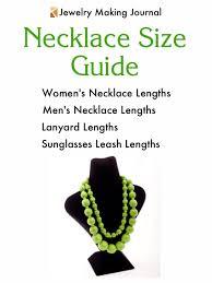 necklace size chart jewelry making