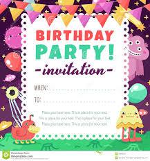 Invitacion Divertida Del Espacio De La Fiesta De Cumpleanos Con