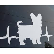 I Love My Terrier Heartbeat With Terrier Silhouette Obsessed Etsy