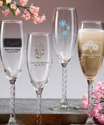 personalized champagne flutes with