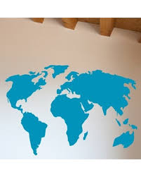 Find The Best Deals On World Map Wall Decal The Decal Guru Color Teal Size 22 H X 32 W X 0 01 D