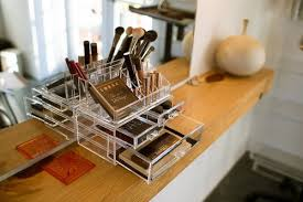 essential acrylic makeup organiser by