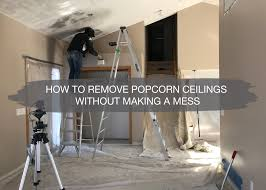 how to remove popcorn ceilings 6 easy