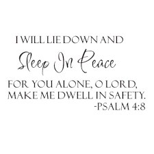 Sleep In Peace Psalm 4 8 Bible Verse Lettering Wall Decal Decor Quote Inspire Shopee Philippines