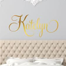 Girls Name Personalized Name Wall Decal Girl Monogram Initial Etsy