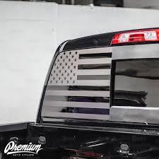 Pre Cut American Flag Rear Window Decal Available In Satin Black Or Satin Grey 2019 Gmc Denali Flg183