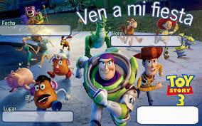 Tarjetas De Invitacion A Cumpleanos Toy Story Para Mandar Por