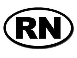 Bw Oval Rn Sticker Decal Registered Nurse Car Decal Size 3 X 5 Inch Walmart Com Walmart Com