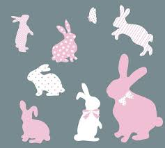 Bunny Fabric Wall Decals Eco Wall Decals