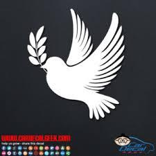 Dove Bird Symbol Of Peace Car Window Decal Sticker Graphic