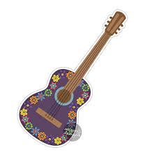 Guitar Blog For Devil Worship Purple Guitar Car Sticker Colorful Flowers