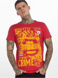 homme russian roulette rouge t shirt