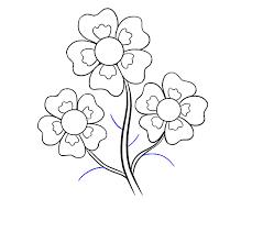 how to draw cartoon flowers easy step
