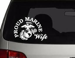 Proud Wife Us Marine Vinyl Car Decal Sticker 7 W With Marine Logo Ebay