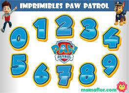 Numeros Paw Patrol Imprimibles De Patrulla Canina Manualidades