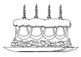 Kleurplaten Kleurplaat Verjaardagstaart