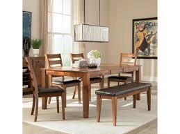Intercon Kona 6 Piece Mango Wood Dining Room Set Wayside Furniture Table Chair Set With Bench