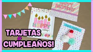 Tarjetas De Cumpleanos Faciles Y Bonitas Happy Birthday To Me Youtube