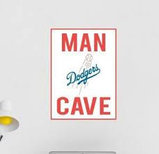 Dodgers Wall Decal Los Angeles Mlb Logo Sport Baseball Man Cave Room Decor C2209 Ebay