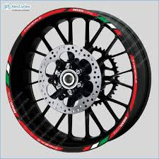 Ducati Corse Panigale Motorcycle Wheel Rim Laminated Decals Stickers Stripes