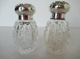 cut glass salt and pepper shakers