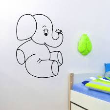 Shop Baby Elephant Vinyl Wall Art Decal Sticker Overstock 10578157