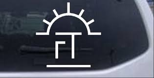 Ft Sunrise Branding Iron Car Or Truck Window Decal Sticker Rad Dezigns